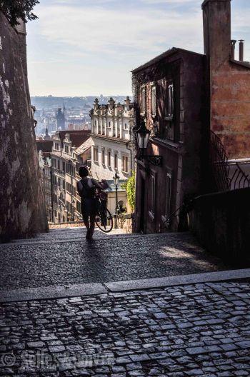 Pratique l'escalier à vélo...