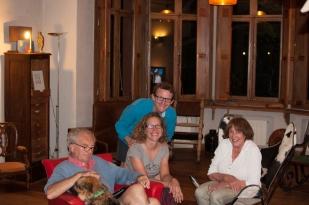 Douce soirée chez Chantal & John