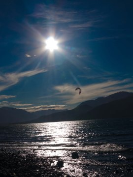 Kite-surf au lac Nahuel Huapi