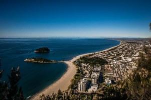 Vue sur la Bay of Plenty, depuis le Mount Mauganui
