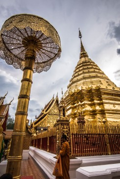 En haut des 290 marches de Doi Suthep (Chiang Mai), il y a ça !