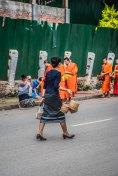 Aumône des moines, Luang Prabang