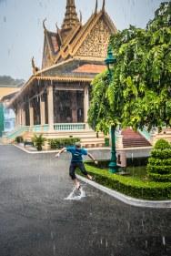 Averse torrentielle à Phnom Penh