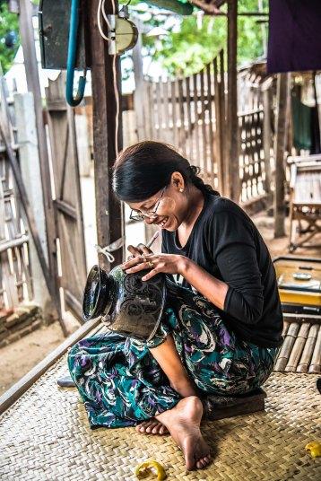 Atelier de laque, Bagan