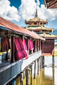 Temple, lac Inle